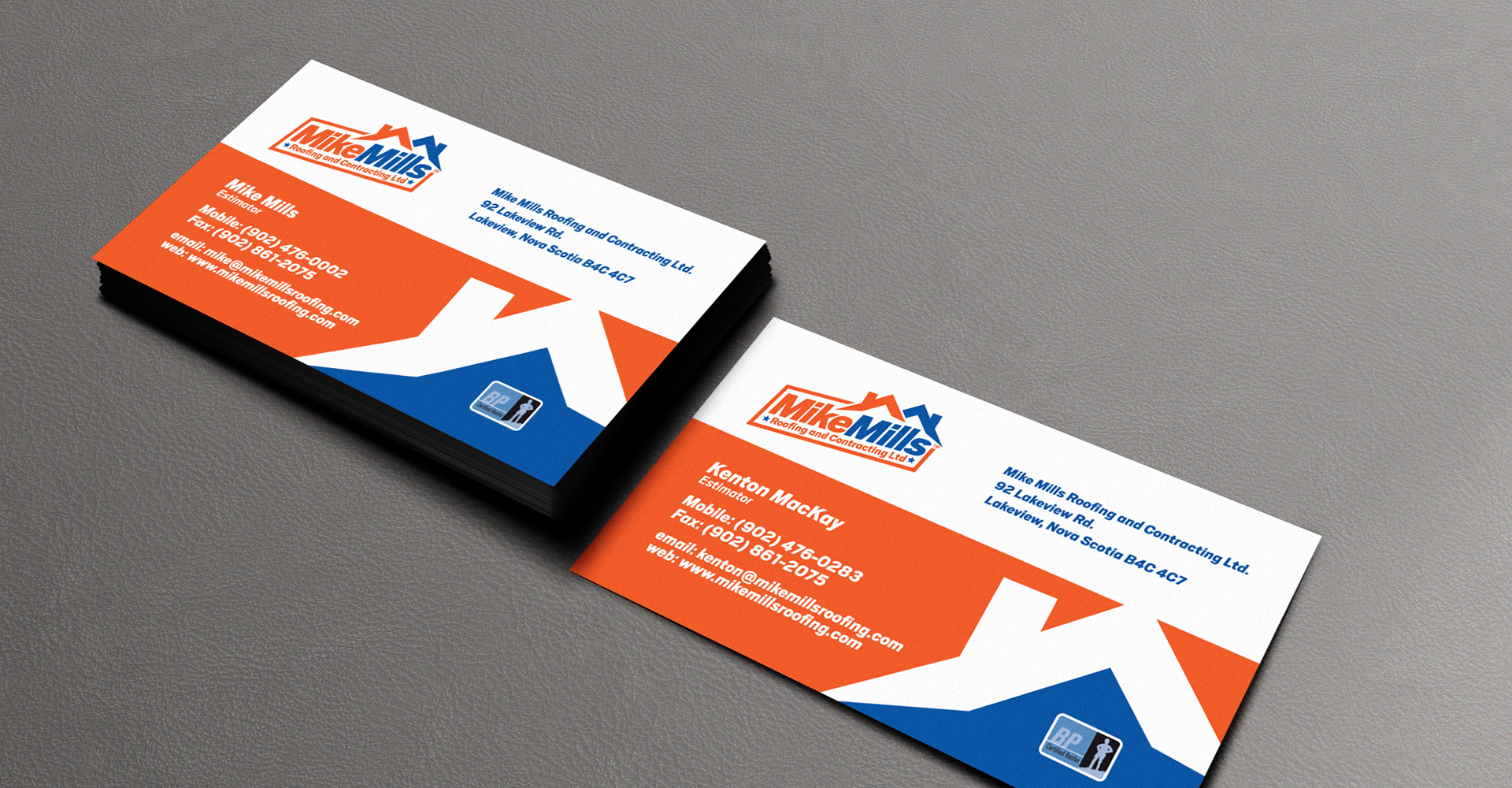 Mike Mills Roofing Graphic Design